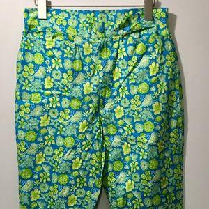 Lilly Pulitzer Womens Pants Blue Hawaiian Vintage